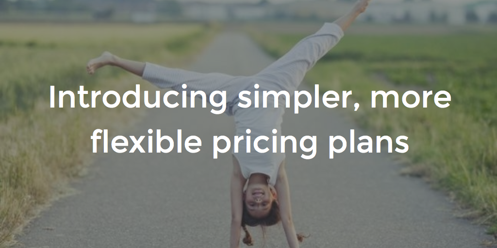 Introducing simpler, more flexible, pricing plans starting at just $25/mo